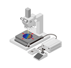 Use as a laser repair device sample platform