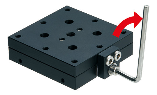 Easily adjustable precision tables without clamping