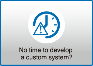 No time to develop a custom system?