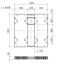 TSD-1000 unit dimensions