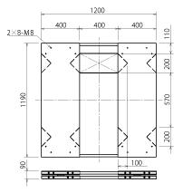TSD-1200 unit dimensions