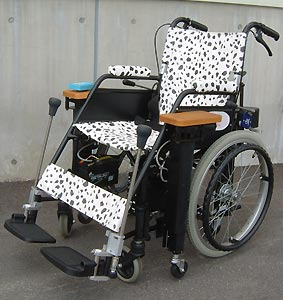 Wheelchairs with electric lift arms